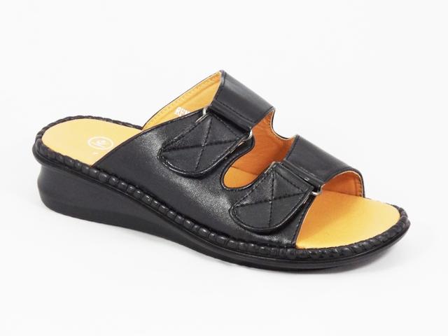 Papuci dama negri ortopedici toc 4 cm Tyna