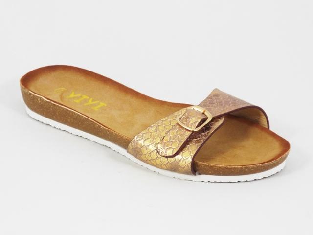 Papuci dama aurii Kleo