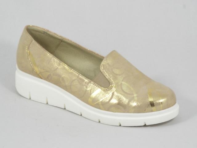 Pantofi dama piele bej cu auriu Diana