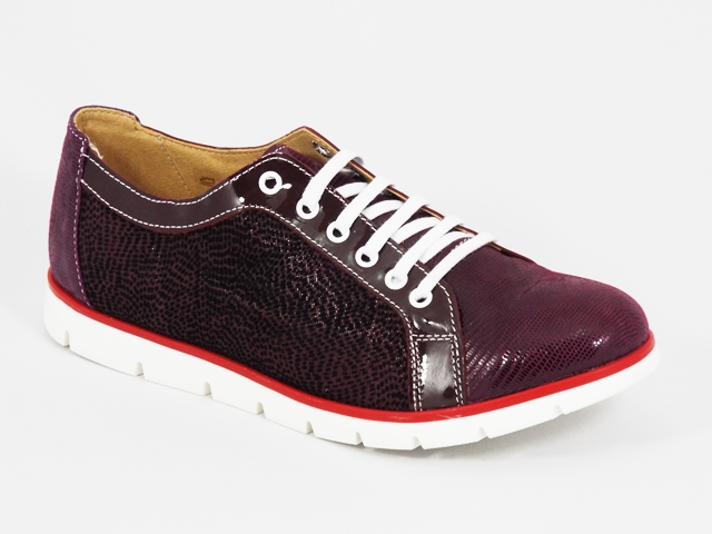 Pantofi dama piele visinii Russy