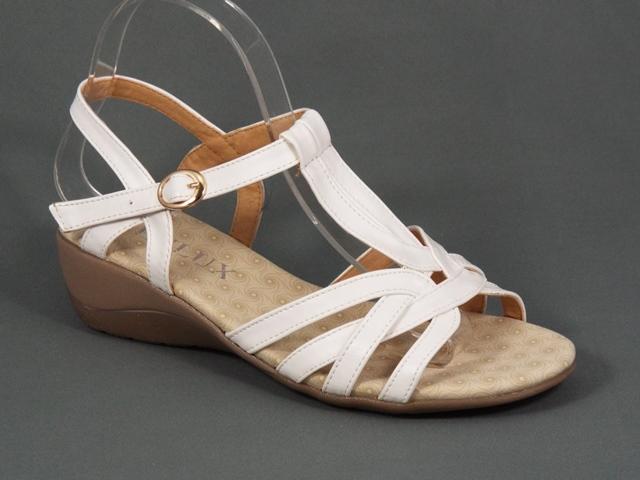 Sandale dama albe toc 4,5 cm Roxy
