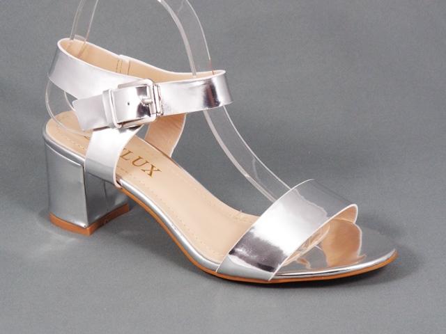 Sandale dama argintii toc 6 cm Nety