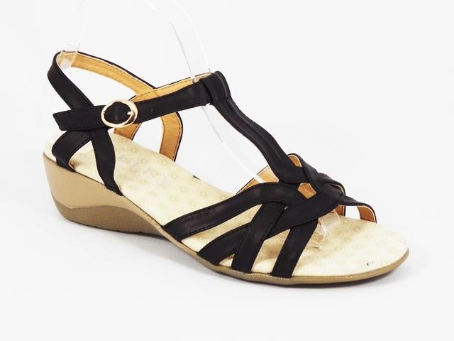 Sandale dama negre toc 4,5 cm Roxy