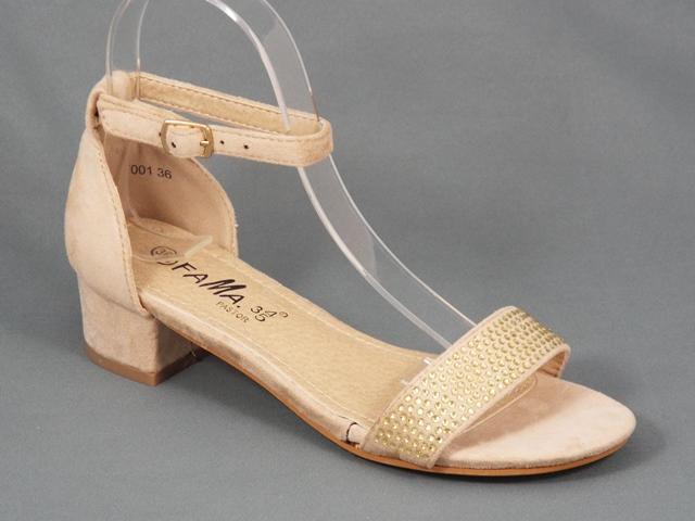 Sandale dama bej toc 3,5 cm Nety