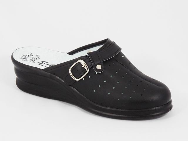 Papuci dama negri ortopedici toc 5 cm Irina