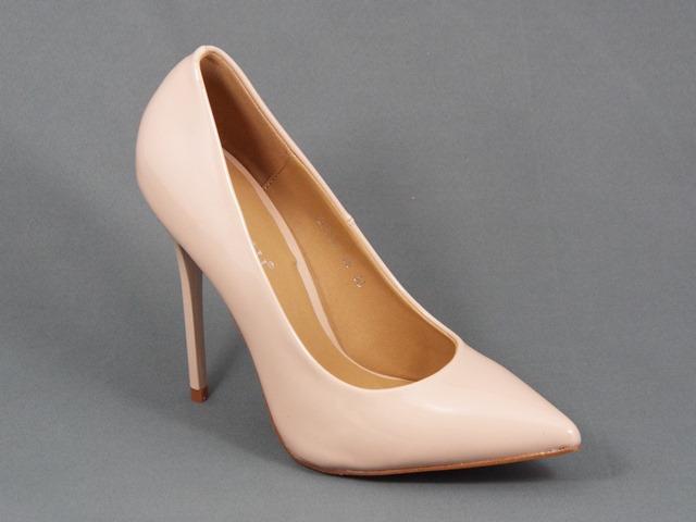 Pantofi dama bej nude lac stiletto toc 11 cm Londe
