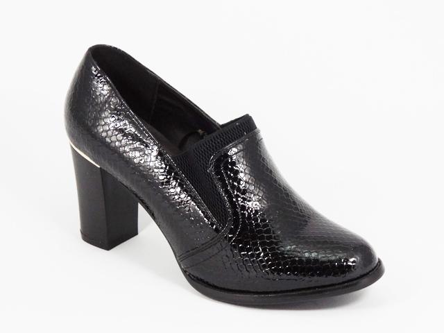 Pantofi dama negri lac toc 8 cm Dyana
