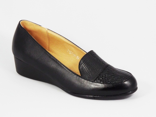 Pantofi dama negri ortopedici toc 3,5 cm Monika