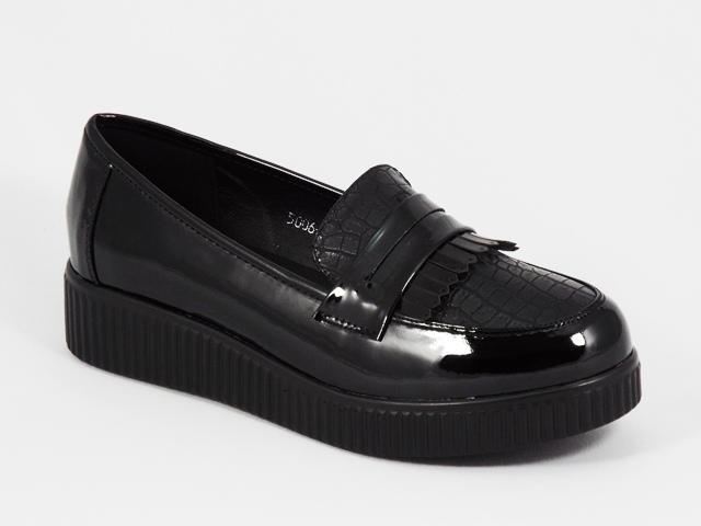 Pantofi dama negri lac toc 3,5 cm Nikolete