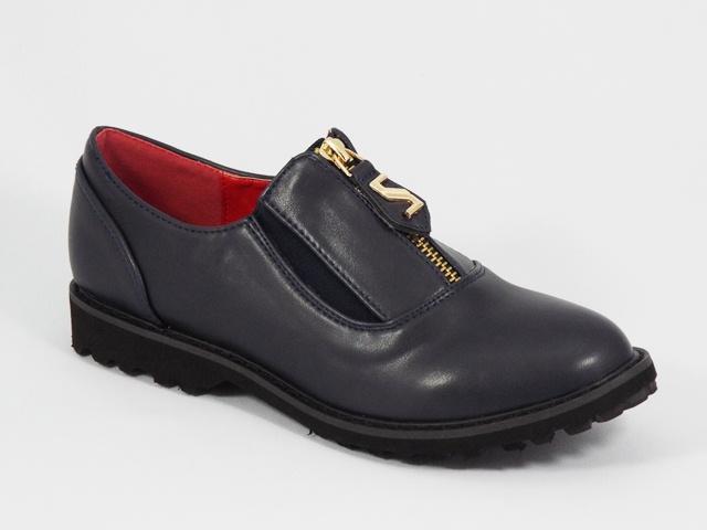 Pantofi dama albastri toc 2,5 cm Elena