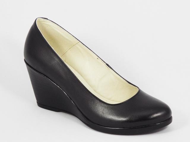 Pantofi dama negri piele toc 7 cm Flora