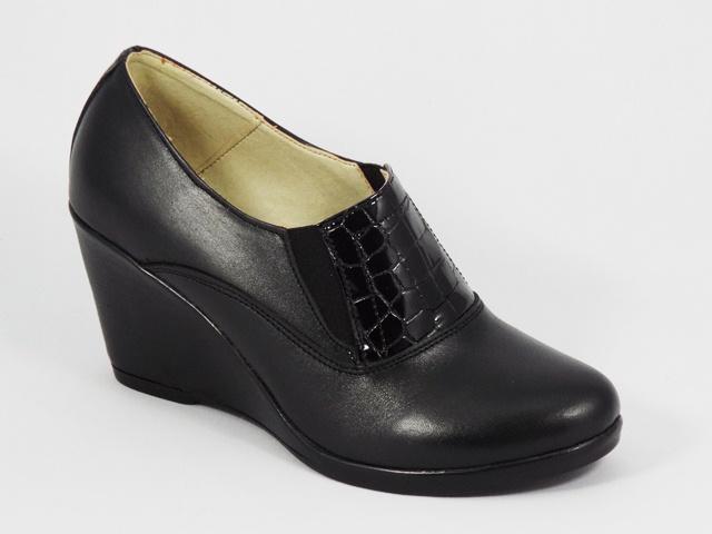 Pantofi dama negri piele toc 7 cm Soryna