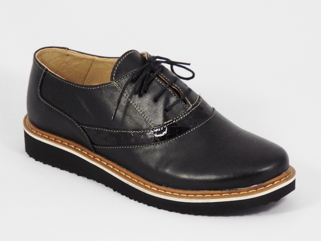 Pantofi dama negri piele toc 2,5 cm Jenna