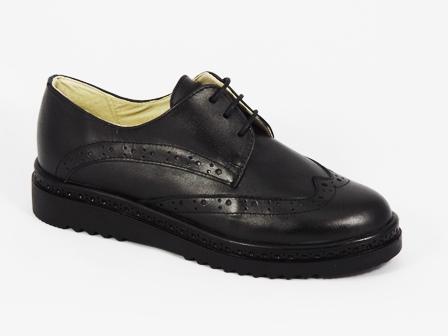 Pantofi dama piele negri toc 3 cm Victoria