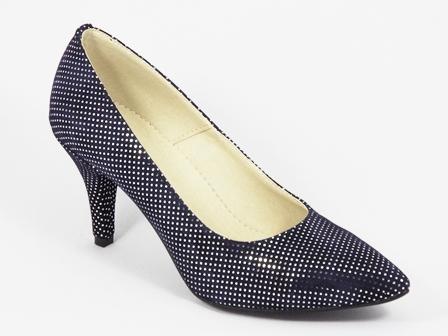 Pantofi dama piele albastri toc 8 cm Flores