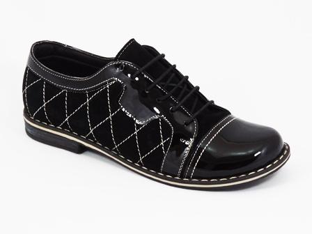 Pantofi dama negri piele Pentola