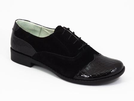 Pantofi dama negri piele Roka