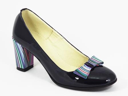 Pantofi dama piele bleumarin Irina
