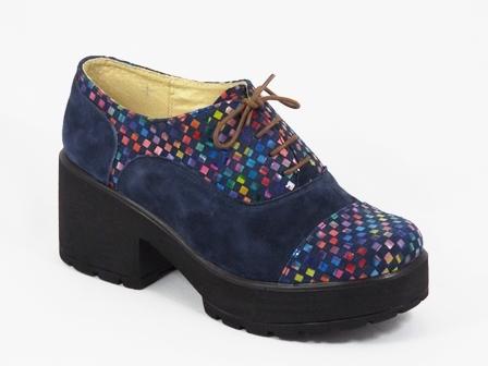 Pantofi dama piele albastri toc 7 cm Dolores