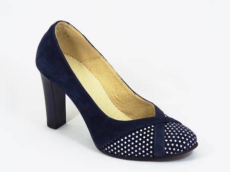 Pantofi dama piele albastri toc 9 cm Kanya