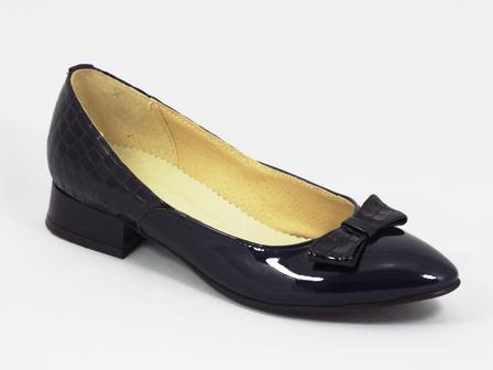 Pantofi dama piele negri toc 2,5 cm Zytte