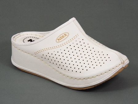 Papuci dama albi Lilia