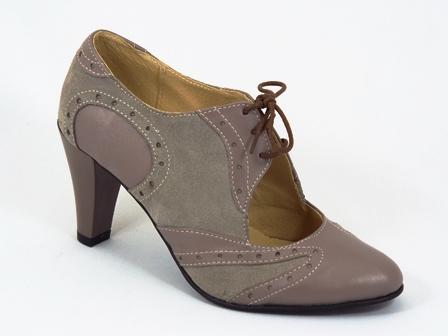 Pantofi dama piele gri toc 8 cm Ana