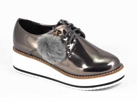 Pantofi dama auriu-metal Synda