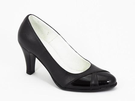 Pantofi dama piele negri Hanna