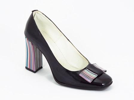 Pantofi dama piele lac negri Netty
