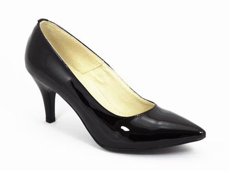 Pantofi dama piele negri lac Dana