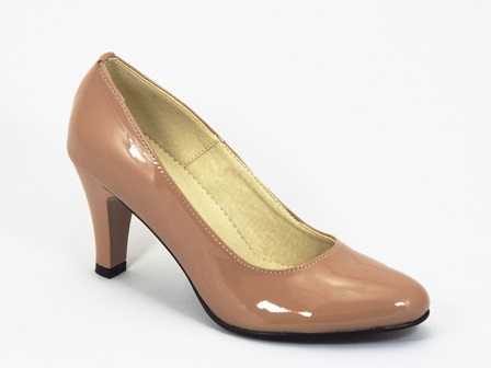 Pantofi dama piele bej lac Inna