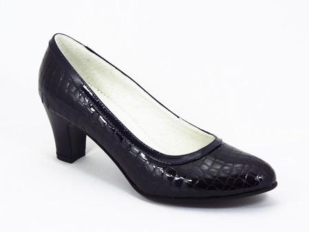 Pantofi dama piele lac negri Vera