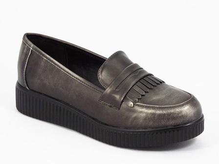 Pantofi dama bronz argintii Flores