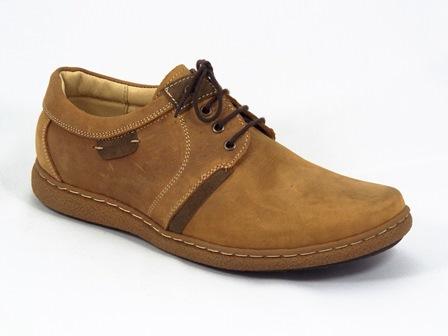 Pantofi barbati piele camel Sporty