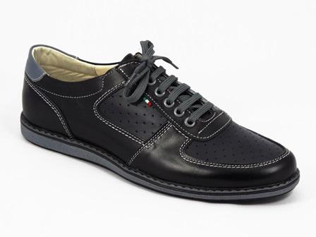 Pantofi barbati piele bleumarin Kostin