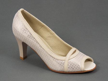 Pantofi dama piele bej Dynna
