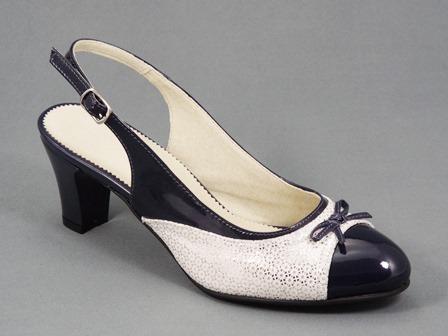 Sandale dama piele bleumarin Rozyna
