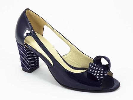 Sandale dama piele lac bleu Eryka