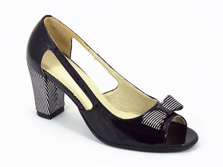Sandale dama piele lac negre Gyanna