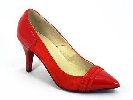 Pantofi dama piele rosii Carla
