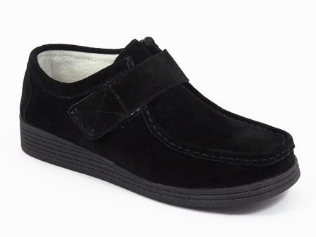 Pantofi dama piele intoarsa negri Zyta