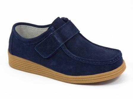 Pantofi dama piele intoarsa bleumarini Zyta