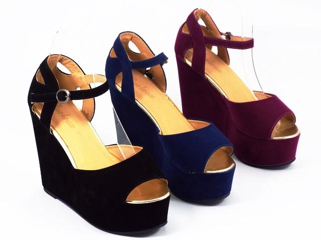 Sandale dama negre albastre mov Sally