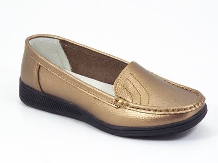 Pantofi dama piele aurii Lyka