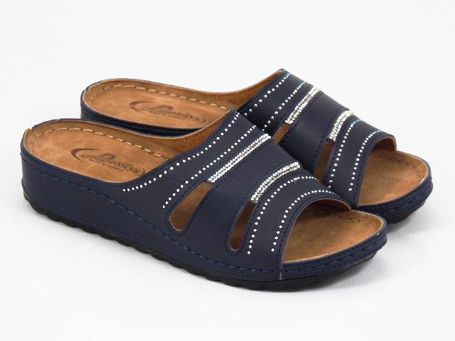Papuci dama albastri Anna