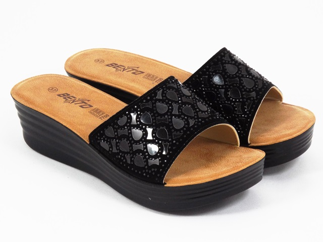 Papuci dama negri Bento