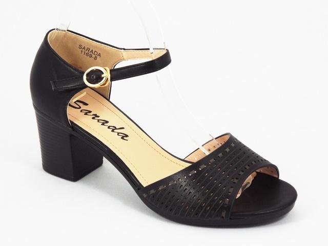 Sandale dama negre Sidona