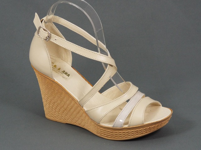 Sandale dama piele bej Zanna