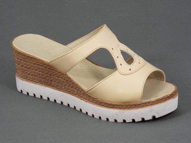 Papuci dama piele bej Ana